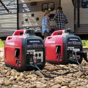 honda eu2200i generator with honda eu2200i companion photo